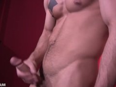 Maskurbate GORGEOUS Male In Red Room