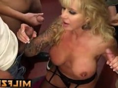 Son and friend gangbanged mom