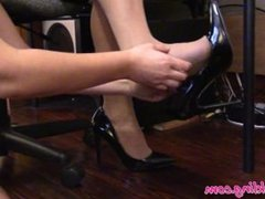 Therapist Savannah's Nylons and Heels Foot Tickle Report