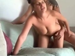 Hot babe with big natural tits fucked