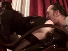 Goth girl getting her booty licked