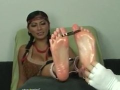 Tender Foot Mila tickled
