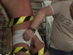 Gay sexy blue eyed blond haired porn He's bound up to the cross in just