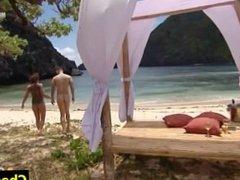 "Ana Cristina Totally Naked in TV Show ""Adan y Eva"""