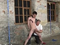 Hot brown haired gay porn With his soft ball sack tugged and his schlong