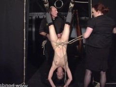 Restrained bondage babe Elise Graves lesbian damsel in distress and japan