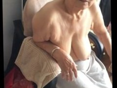 Asian 80+ Granny From SEXDATEMILF.COM After bath