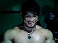 Asian bodybuilder cheng dun cam show