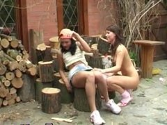 Horny cock boys girl porn hot sex xxx girls teen Cutting wood and eating