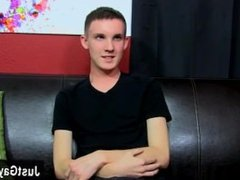 Twinks XXX Miccah has arrived on the couch for an interview and a solo