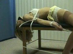 Emily Tied To Bench and Vibed
