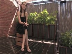 Sexy brunette get tied up sprayed dunked and fucked