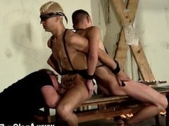 Emo twink porn gay sex Back-to-back, the boys are roped up and incapable