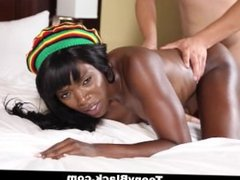 TeenyBlack - Petite Black Teen Shows Off Her Skills