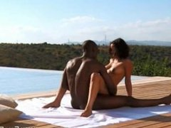 Ebony Couple Enjoy Exotic Sex