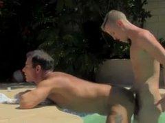 Brown hair blue eye twink gay porn With the folks jism dribbling down his