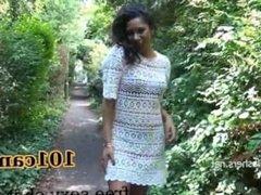Ebony babe Mels teasing public flashing and outdoor camz.biz/sonya