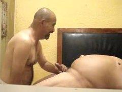 Belly grandpa and daddy bareback