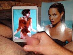 Celebrity Angelina Jolie nude cum tribute