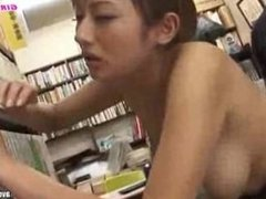 Hot Wife Japanese Used Many Mens On Library part 3