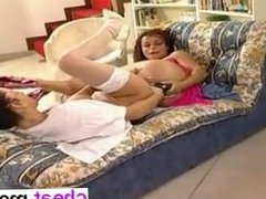 she is at cheat-meet.com - Lollipop and Natasha use