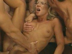 Old Lady Got Three Big Cocks