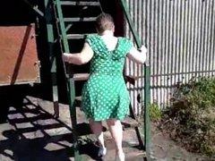 Amateur granny public flash 1
