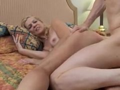 Super sexy slim older lady From LOCALMILF.INFO enjoys a hard fuck and a fac
