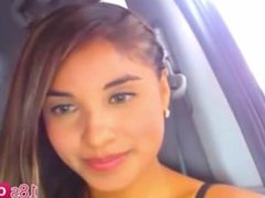 Sexy Smoking Hot Teen Latin Masturbating and Squirting in The Car - 18sOnly