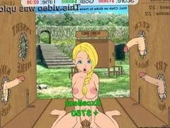 Gloryhole blonde whore (part 2)