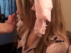 Nasty schoolgirls get punished with some foot smelling