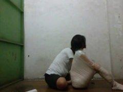 Indonesia Chinese Girl in Hard Pose Mummification