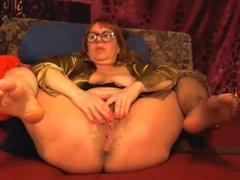 Horny 54 year old milf masturbating on webcam (no sound)