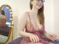 From HERCAMS.COM nat cums while wearing glasses