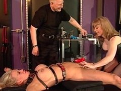 Big tits blonde From SEXDATEMILF.COM bound up and pleasured by an older cou