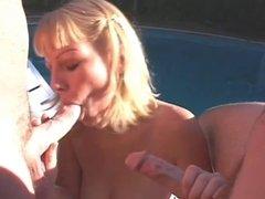Slut gets double pussy action