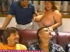 From SEXDATEMILF.COM Gangbang Archive BBW slut gangbanged by 8 guys Hubby s