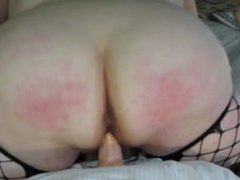 Mollie from 1fuckdate.com - Naughty bbw slut gets her ass slap