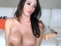 Tara LIVE on 1fuckdate.com - Ariella and giant dildo