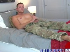 Sexy Sergeant Jerks Off