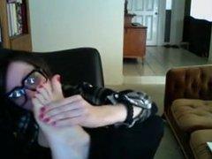 Beau gros pieds. Chieko LIVE on 1fuckdate.com