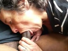 Amateur granny interracial cocksucking