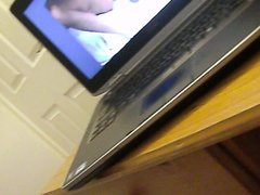 Cum while watching porn