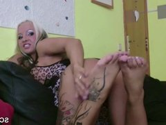 German Ex Girlfriend Give me a hot Foot Job