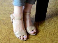 Secretary's feet in the waiting room