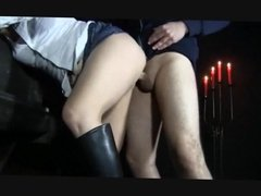 BDSM Blonde slut love hard anal sex