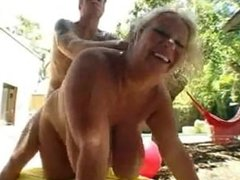BBW MILF from AmateurWivesXxx.com Torpedoed Outdoors