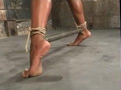 Ebony Bondage - Hard tied Tits