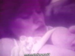 Redhead Lady Masturbates and Licks Tits (1970s Vintage)