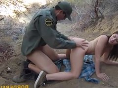 Mexican border patrol agent fucked whore